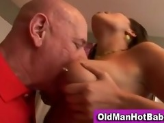 old lad oral-stimulation by hawt younger playgirl