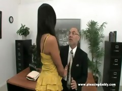 young lascivious secretary fucks old boss