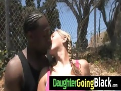 hot daughter knob engulf and interracial fuck 6