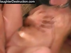 cute youthful legal age teenager daughter screwed