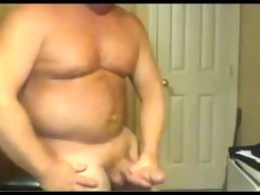 strong large dick dad busts a sexy nut!
