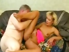 youthful daughter drilled hard by dad