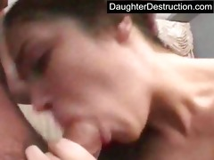daughter mouth and pussy screwed hard