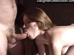 cute juvenile legal age teenager daughter drilled