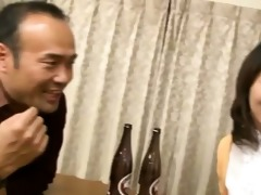 japanese wife sucks on a younger pounder