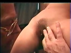 youthful hotty &; old man cum on cookie