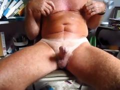 older man handles his 14 year old circumcised cock