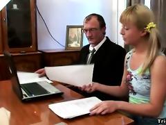 sexually excited schoolgirl copulates her teacher