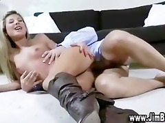 blond hotty playing with toy