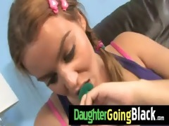 just watching my daughter fucking a darksome dick