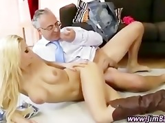 miniature blond doxy receives a jizz flow