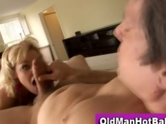 old guy copulates sexy younger chick