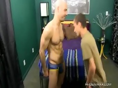 ravishing daddy and lascivious son fuck with adam